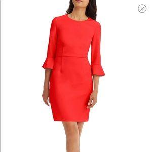 Donna Morgan Belle Sleeve Crepe Sheath Dress